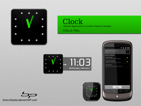 Android: Clock App. Concept by bharathp666