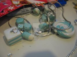Clay: Teal+White Sets by leannetran