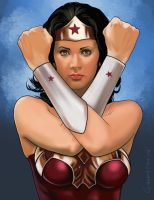 Lynda Carter as Wonder Woman. by garrypfc