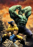 Wolverine Vs Hulk 2014Rev by JeremyColwell