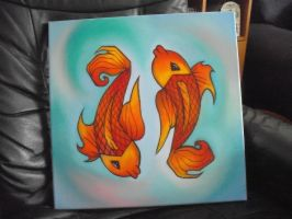 Incubus Koi Fish Painting by pepsifunk