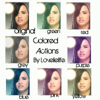 7 actions pack-Colored Actions by lovelielife