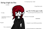 Being single be like by ChromeiNsAnItY