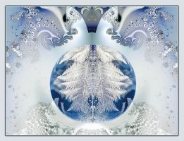 Natural frozen bubble in a Ultra Fractal world by marijeberting