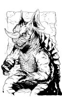 Baragon BW by KillustrationStudios