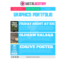 Graphics Portfolio Page Redesign by DigitallyDestined