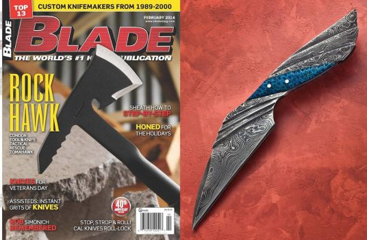 Inside Back Cover of Blade Magazine by Logan-Pearce