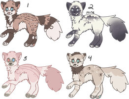 Cat Adoptables 1 - CLOSED by Railguns
