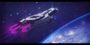 Lazerus Starship 3D Commission by AdamKop