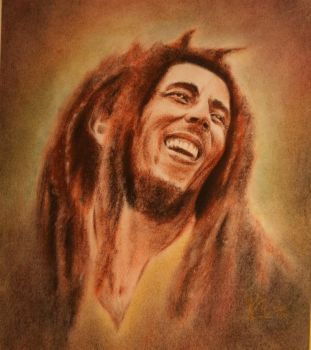 Bob marley pastel by Mr-Whoopee