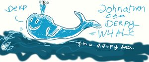 Johnathon the Derpy Whale by TheIrritatingPenguin