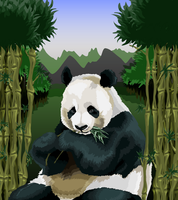 Panda Vector by 00chalcedony00