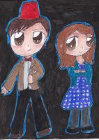 The Doctor and Impossible Girl by timelordponygirl