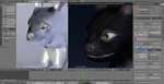 Umbreon 4.0 Initial Sculpt/Particle test by alewism