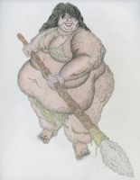 SSBBW Cavewoman attempt 3 coloring 3 by ENT2PRI9SE