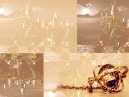 Hogwarts and time turner by Miss-deviantE