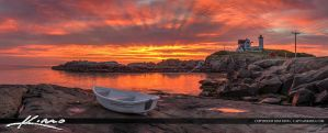 Nubble-Lighthouse-Cape-Neddick-Boat-Along-Coast by CaptainKimo