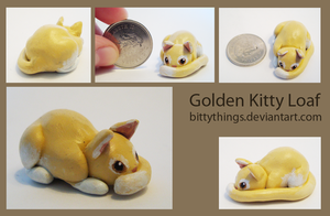Golden Kitty Loaf - SOLD by Bittythings