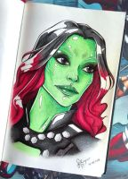 Gamora - Guardians of the Galaxy by FilipaP