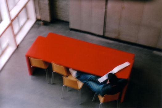 redtable by deckchairs