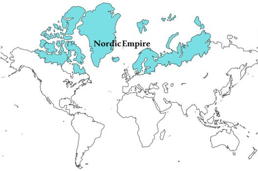 Map of the Nordic Empire by ghostly-fennek