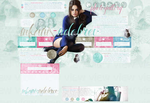 Order Layout ft. Mila Kunis (Nina Dobrev) #47 by BebLikeADirectioner