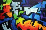 Abstract Male Reclining, Acryl by ivanjs