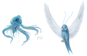 Swablu and Phione