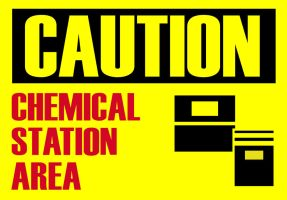 Caution Chemical Station by MrDraftsman