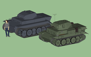 Two Luchs scale and size comparison by NezumiYuki