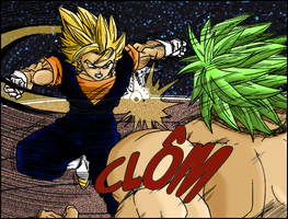 DBM Color Vegeto Vs Broly by firebladenatjox