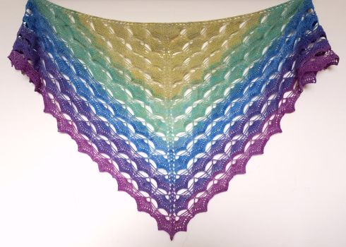 Summer Sword Lily Shawl by FearlessFibreArts