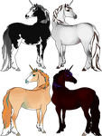 Adoptable Lustre RP Unicorns - WINNERS by orengel