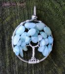 Aquamarine Tree of Life Giveaway by SerenityWireDesigns