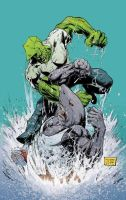 Savage Dragon vs. Mako by Cinar