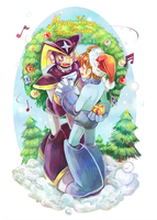 Rockman Secret Santa 2013 by whitmoon
