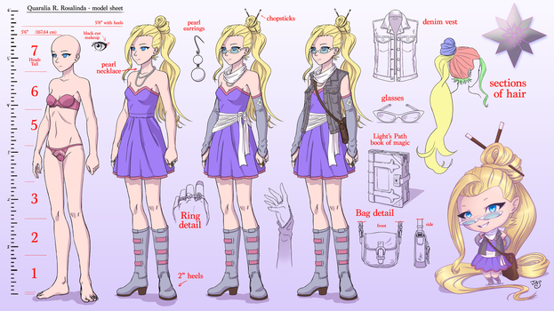 Quaralia model sheet by TheRogueSPiDER