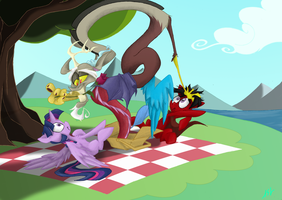 An... unexpected guest for picnic ._. by QuynzeL
