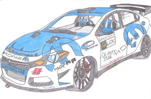 2013 [HOONIGAN] Mopar Dodge Dart rally car COLORED by jmig3