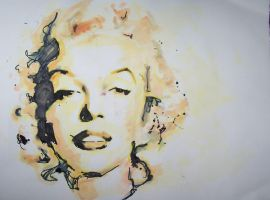 Marilyn Monroe- Watercolor by shawnie-b
