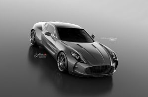 Aston Martin One 77 3D by Grevonet