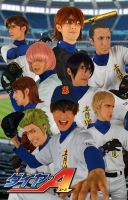 All for One - Ace of Diamond by Pharaohmones
