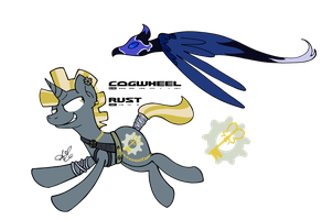 Cogwheel Rust and Moonbird by Universal-Tiger