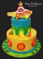 Yellow Submarine Cake by ArteDiAmore