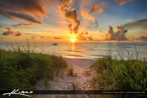Path-to-Ocean-Sunrise-Boynton-Beach by CaptainKimo