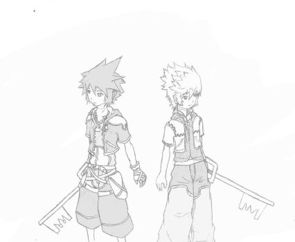 Sora and Roxas by TimTam13