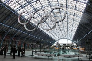 St Pancras and Olympic Rings by Aconitum-Napellus