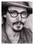 Johnny Depp drawing by xnicoley