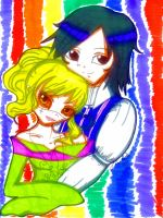 Colorful couple by Danielle-chan