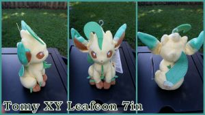 Tomy XY Leafeon 7in by Vesperwolfy87